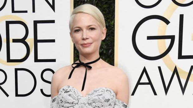 michelle-williams-makeup- red carpet golden globes 2017