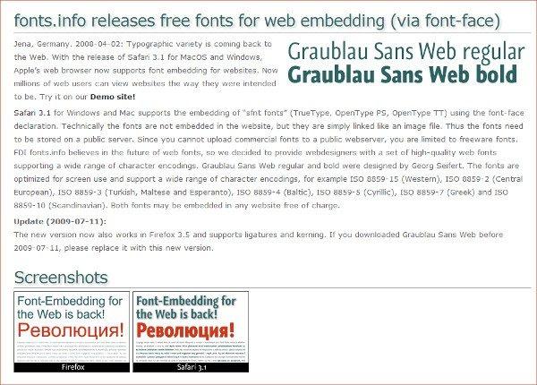Graublau free font