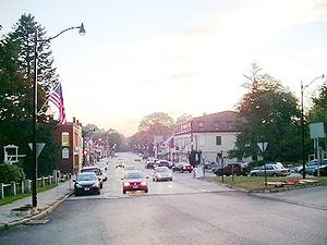 Main Street from Monument Square, Concord, Mas...