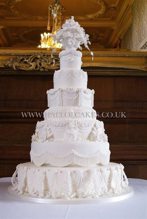 10 best All White Wedding Cakes images on Pinterest