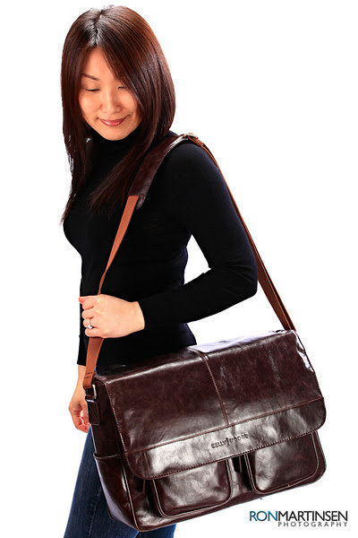 Kelly Moore Camera Bag Kelly Boy Brown - Carrying View