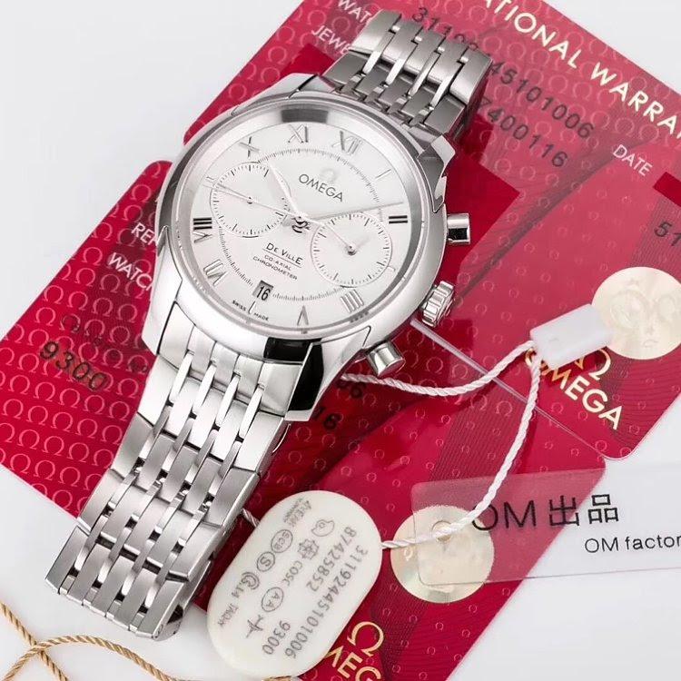 Replica Omega De Ville White Dial
