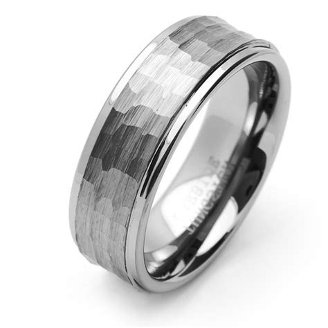 Men 9MM Comfort Fit Tungsten Carbide Wedding Band Brushed
