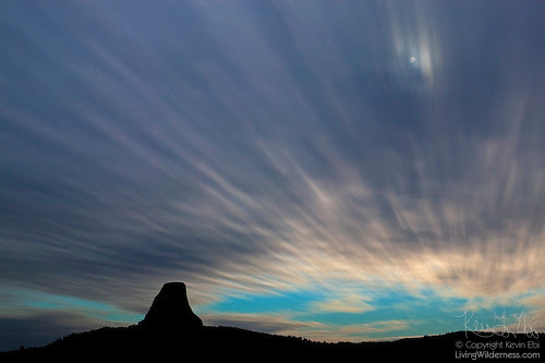 Devil's Tower, Cloud Streaks, Wyoming