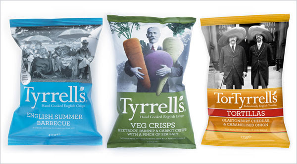 Tyrrells chips packaging design 5 30+ Crispy Potato Chips Packaging Design Ideas