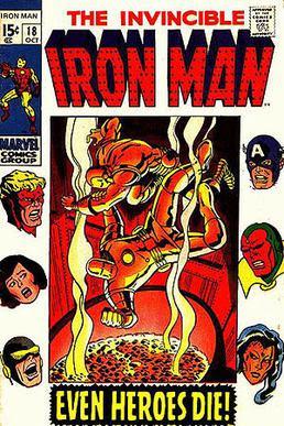 Tuska's cover of Iron Man #18 (Oct. 1969) disp...