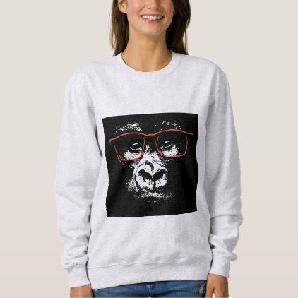 Gorilla Red Glasses Sweatshirt