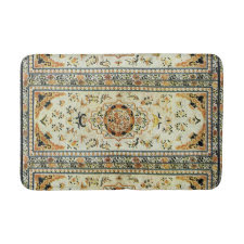 Oriental rug in light colors bath mats