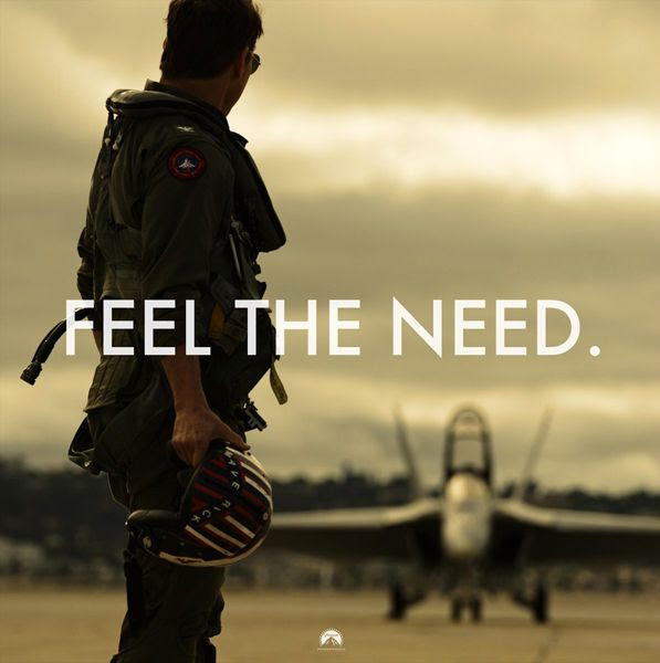 Maverick (Tom Cruise) stares at an F/A-18 Hornet on the tarmac...in this promo pic for 2019's TOP GUN: MAVERICK.
