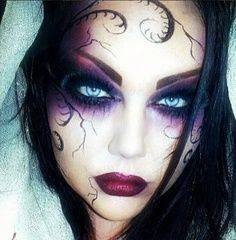 purple witch makeup