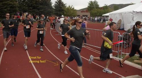 Crossing finish line