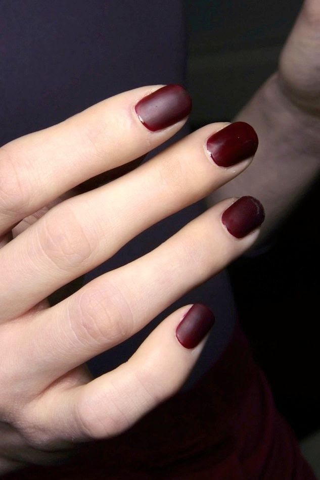 Le Fashion Blog Matte Burgundy Oxblood Nails Deep Red Nail Polish Manicure Costello Tagliapietra FW 2014 photo Le-Fashion-Blog-Matte-Burgundy-Nails-Deep-Red-Nail-Polish-Manicure-Costello-Tagliapietra-FW-2014.jpg