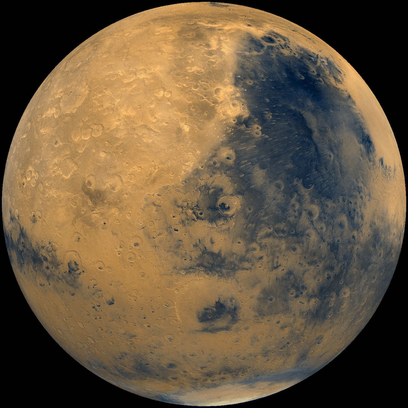 Mars! Martian meteorites make their way to Earth after being ejected from Mars by a meteor impact on the Red Planet. Image: NASA/National Space Science Data Center.