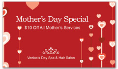 CPS-1052 - salon coupon card