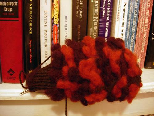 Thrummed mitten kit from Greenwood Hill Farm -- the inside!