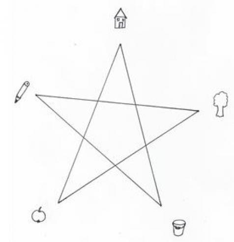 Sprachanfang - Lernaufgabe Stern malen