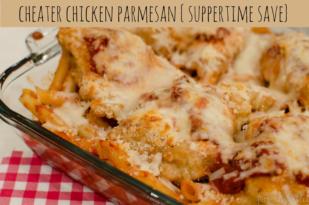 Cheater Chicken Parmesan | Suppertime Save | personallyandrea.com