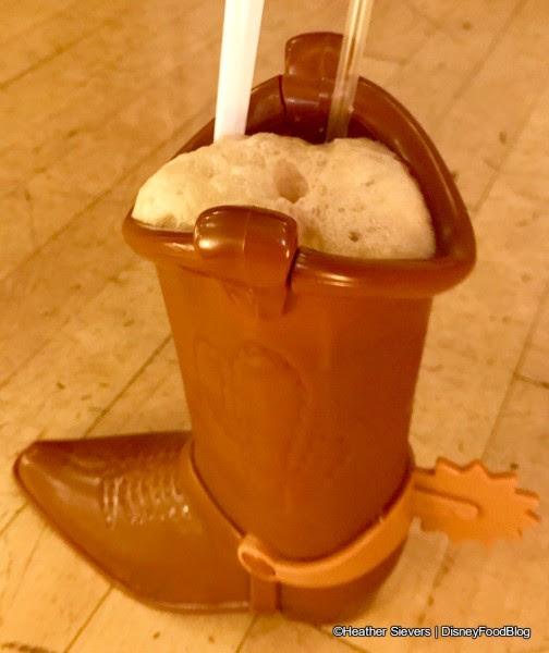 Coke Float in Woody's Boot