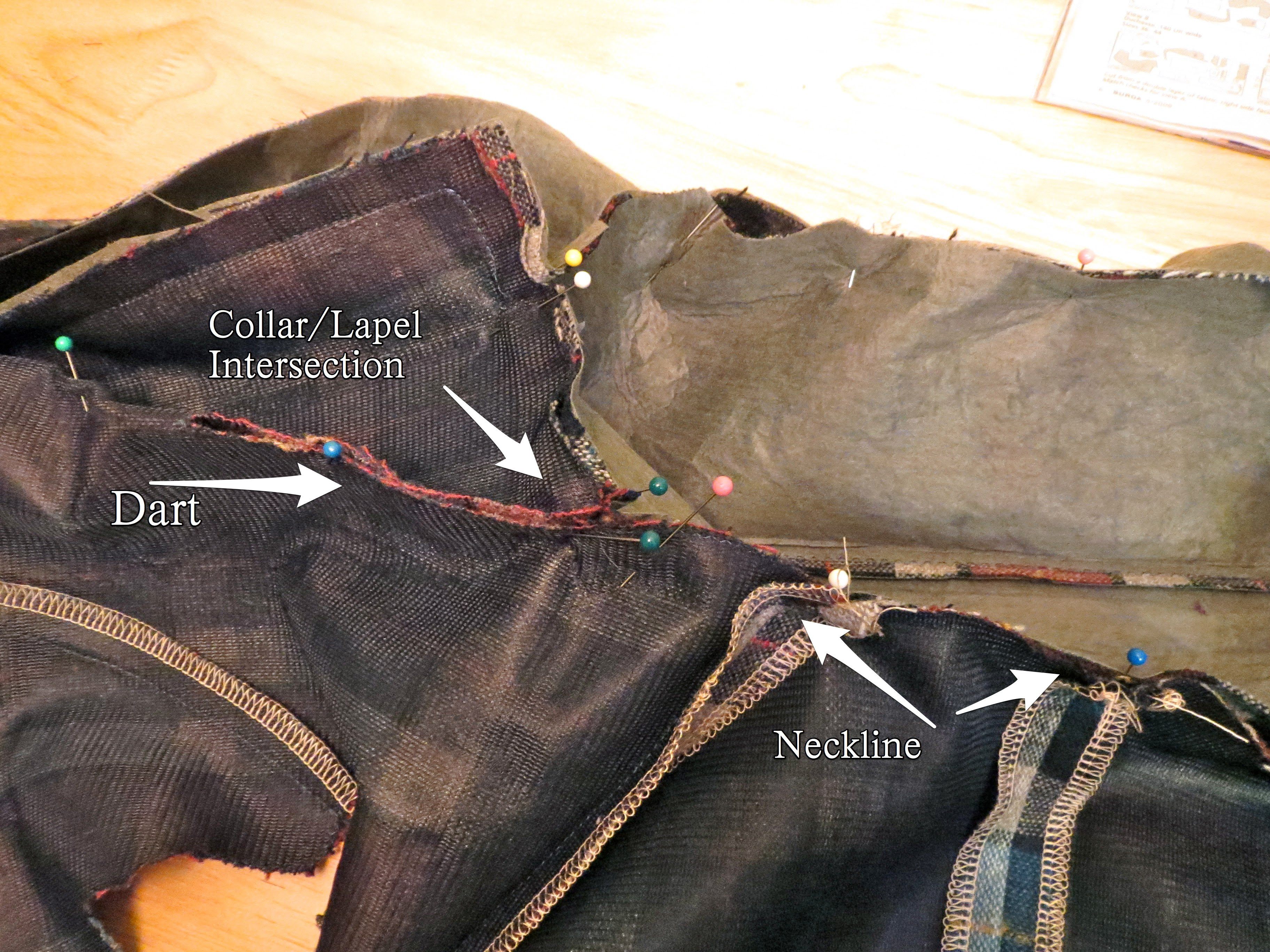 Sewing Facing to Body of Jacket-1