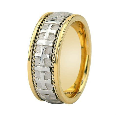950 PLATINUM & 18K GOLD MENS WEDDING BAND RING 8MM   eBay