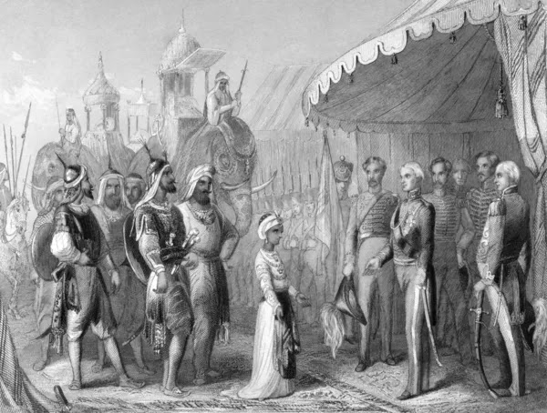 The submission of the young Maharaja Duleep Singh to Sir Henry Hardinge at  — Stock Photo #5599867