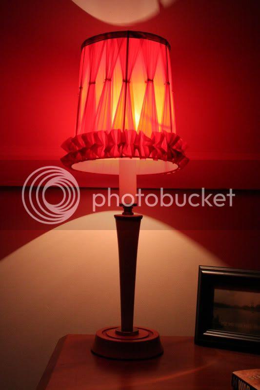 vintage lamps in bedroom on bedside table