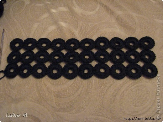 Handbag of the rings with beads.  Crochet without interrupting the thread (8) (520x390, 119Kb)