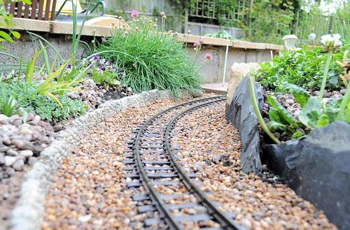 Nice neat garden railway trackwork