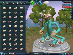 SPORE Creature Creator Screenshot