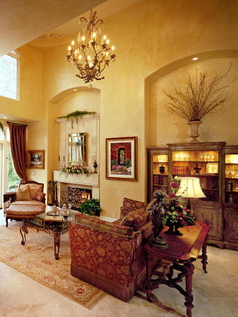 Tuscan Living Room Ideas 15