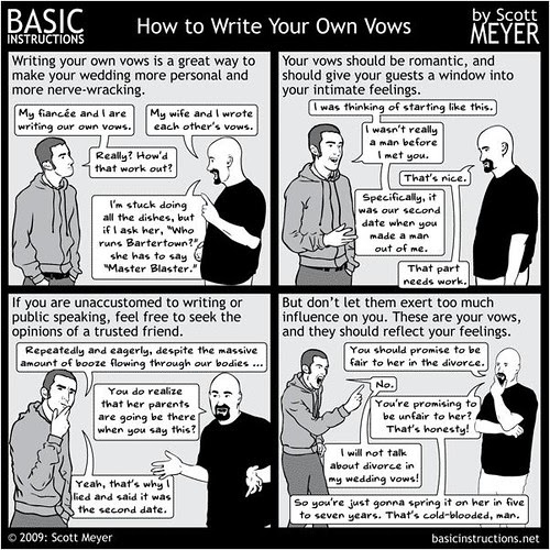 how to write marriage vows