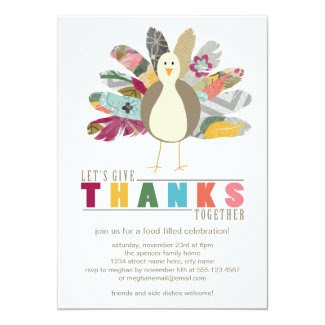 Feathered Friend Thanksgiving Dinner Invitation