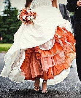 Add a colorful petticoat under your wedding dress in a