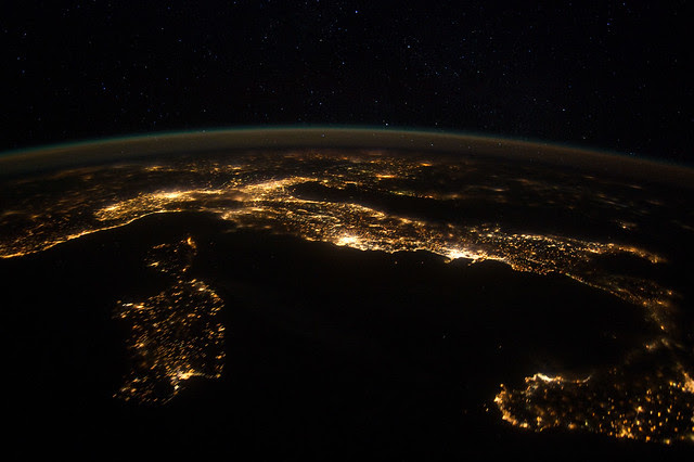 European Panorama (NASA, International Space Station, 01/25/12)