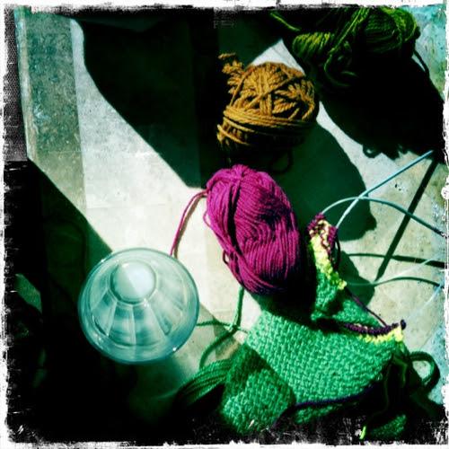 Knitting in the Sun