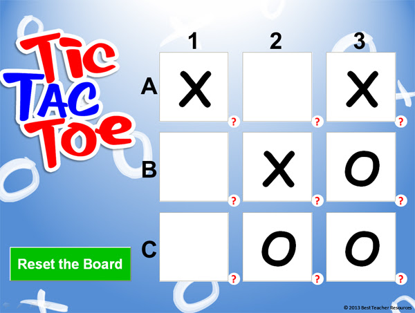 Tic Tac Toe Powerpoint Template Classroom Game