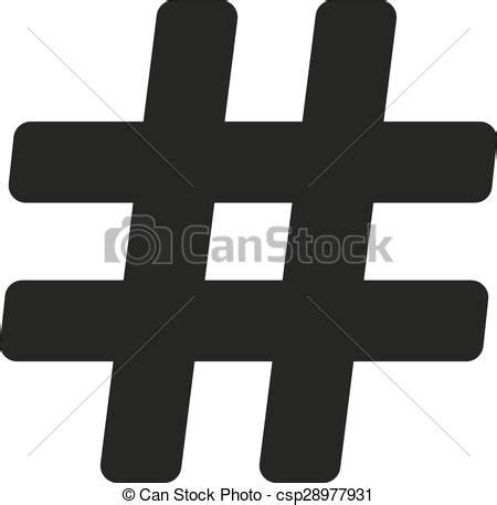 hash icon hashtag symbol flat vector illustration