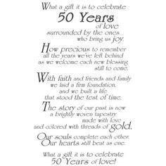 50th Wedding Anniversary Poems   The Best 50th Wedding