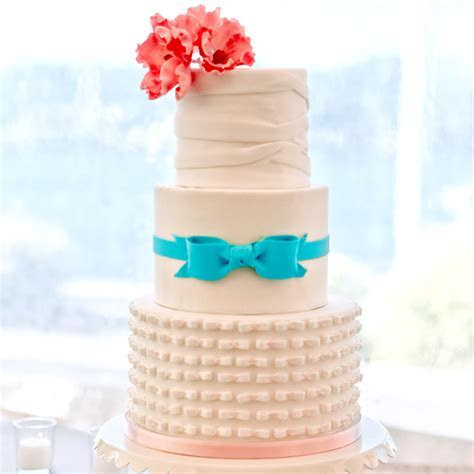 Fondant Cakes from Real Weddings   Martha Stewart Weddings