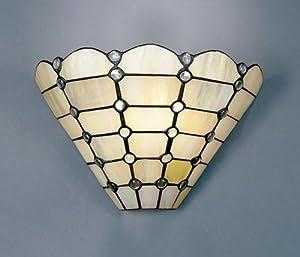 Dale Tiffany 7411/1LTW Beige Geometric Wall Sconce Light, Art ...