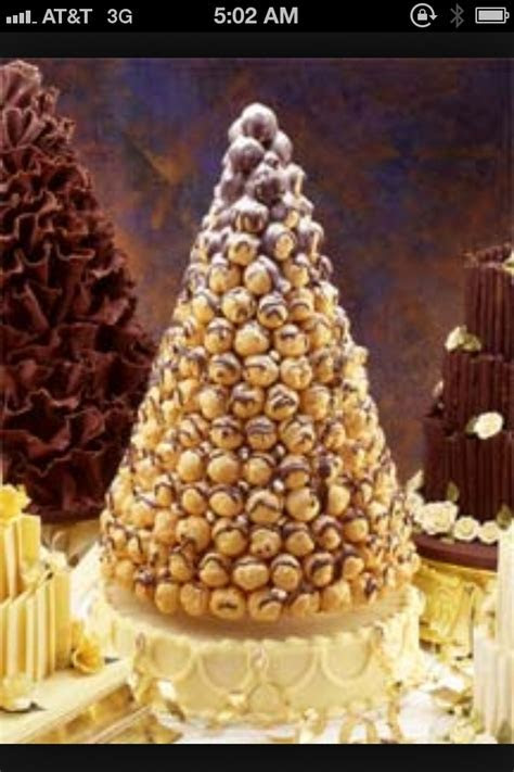 French wedding cake Aka: chocolate cream puff tower
