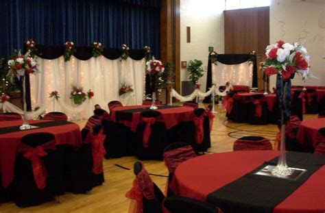 black white red gold reception decorations   October 9th