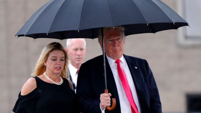 Pam Bondi with Donald Trump in August 2016