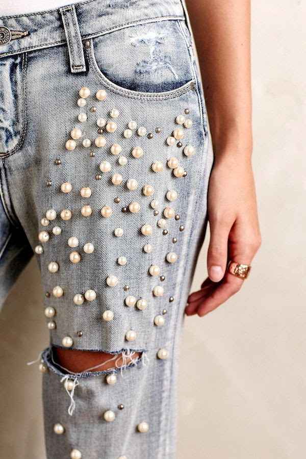 Le Fashion Blog Paige Jimmy Pearl Embellished Jeans Ripped Denim Fall Style