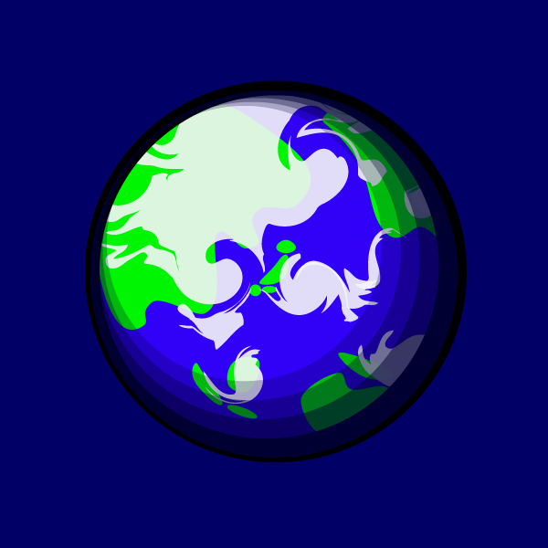 かわいい地球の無料イラスト商用フリー オイデ43