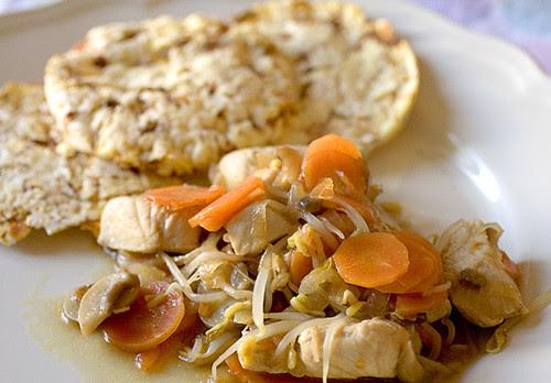 Pollo con salsa d'ostrica e gallette LaNgalletta