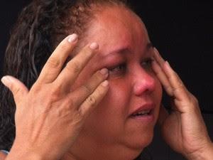 Rosilene conta os minutos de pânico que sentiu (Foto: Michelly Oda / G1)