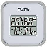 タニタ(TANITA)デジタル温湿度計 置き掛け両用タイプタイプ/マグネット付 グレー TT-558-GY
