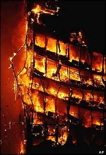 Windsor Building burning