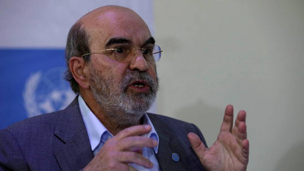 José Graziano da Silva durante una conferencia en Maiduguri, Nigeria, el 7 de abril.rn